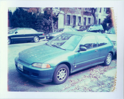Polaroid picture of Rob's car