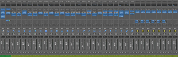 Yes, ALL of these channels entered the mix when I selected a drum machine preset!