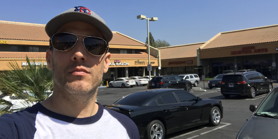 Me at the strip mall in Encino where I used to do comedy