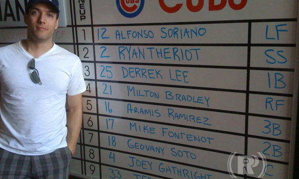 Rob P. & Cubs Lineup Board