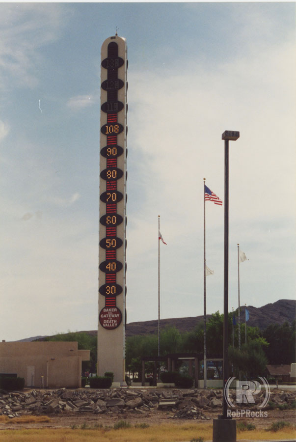 Worlds Biggest Thermometer in Baker, CA