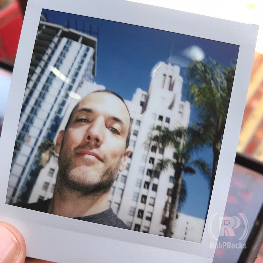 Polaroid shot of Rob in Downtown LA
