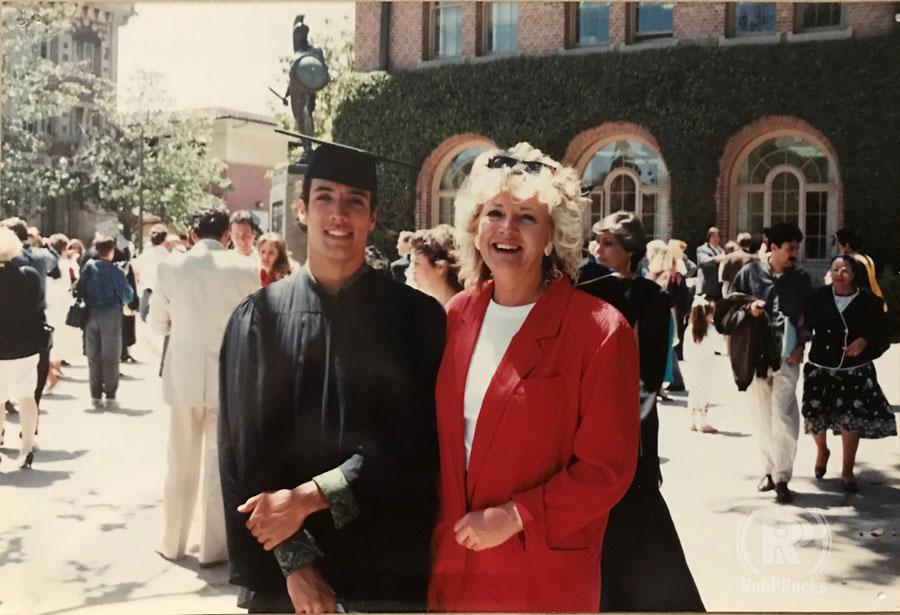 Rob P. and Mom at Graduation