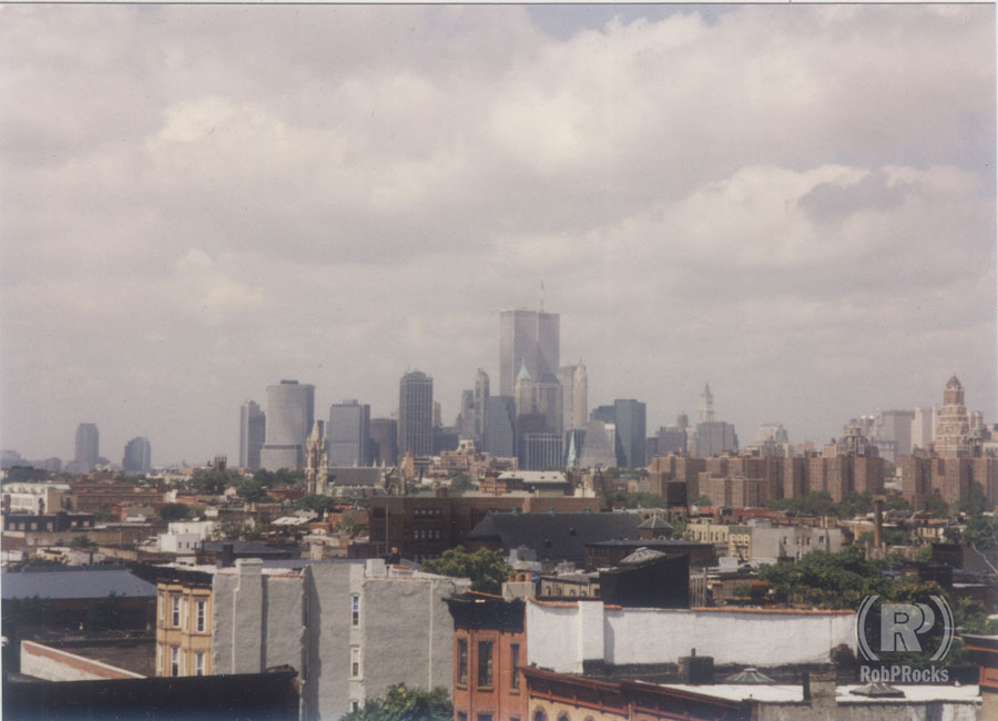 view of lower manhattan skyline, 1997