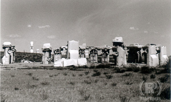 B&W Photo of Carhenge
