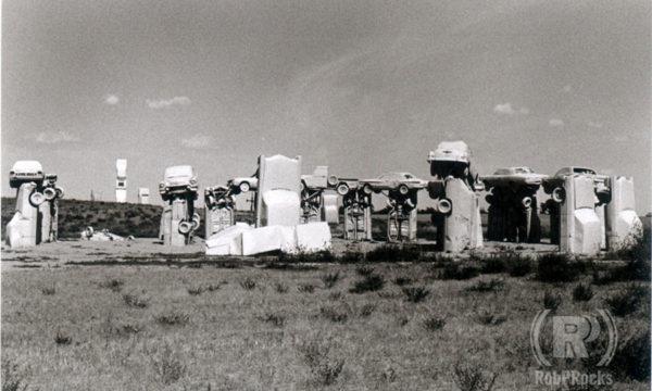 B&W Photo of Carhenge