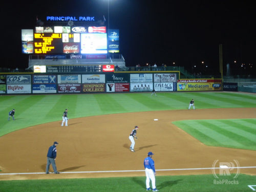 Iowa Cubs on the field