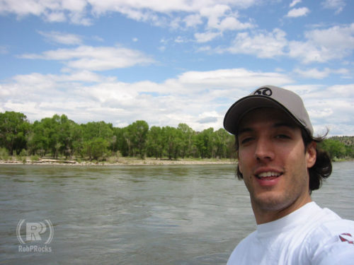 Rob near a river