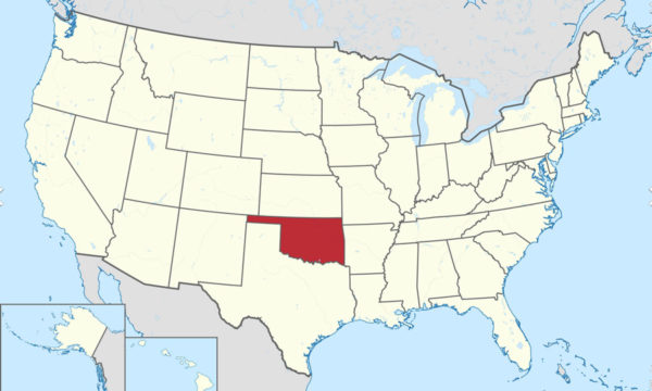 US Map with Oklahoma highlighted