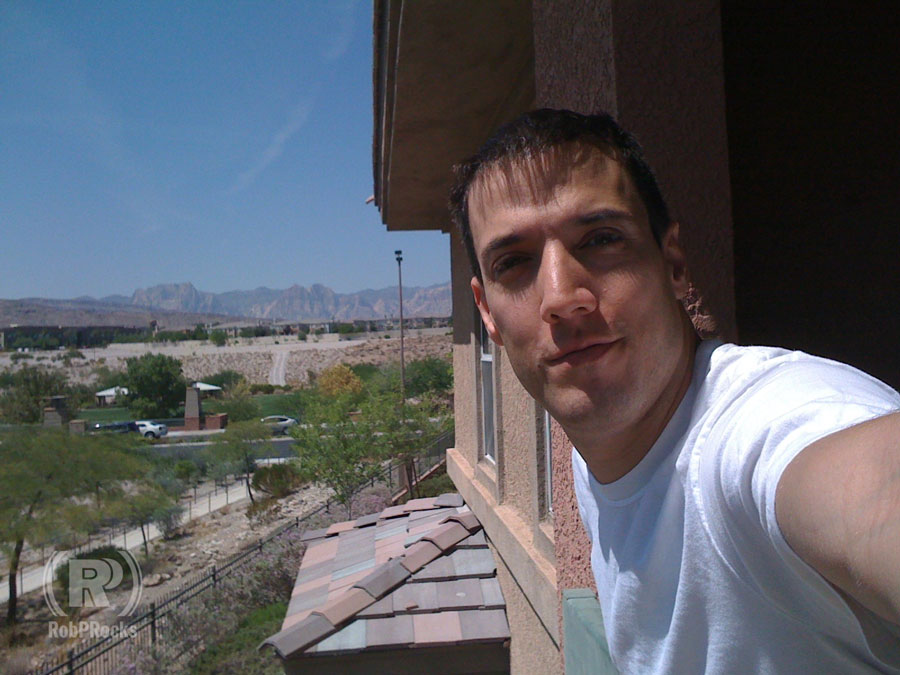 Selfie on a balcony