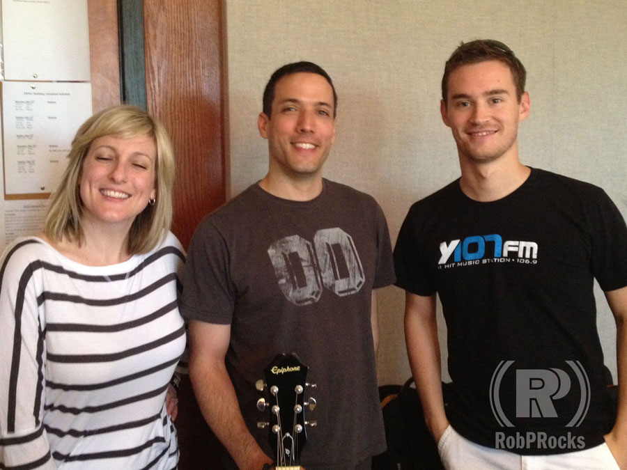 Rob and Y107 morning crew